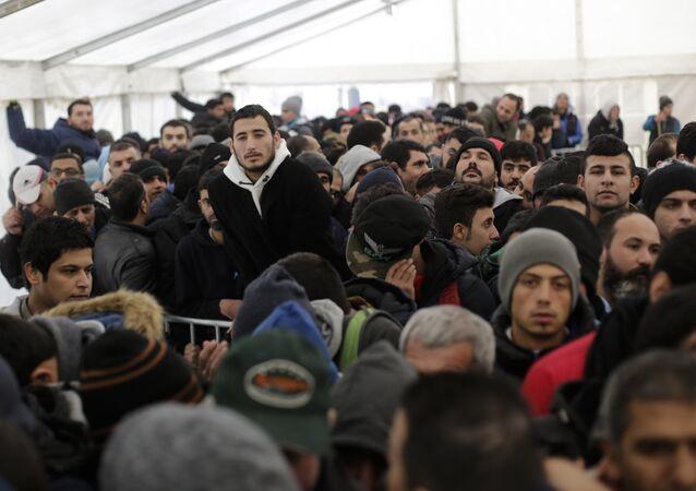 Des migrants en Allemagne