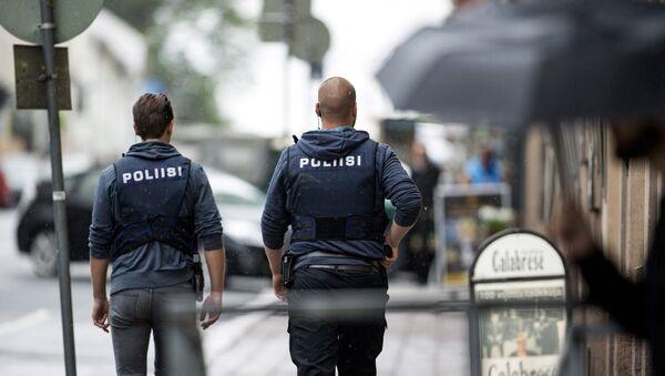 Policía finlandesa en la ciudad de Turku - Sputnik France