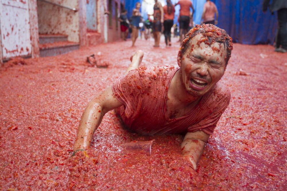 La folie des tomates à Bunol