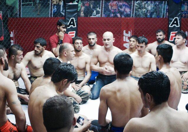 Premier club privé de combat libre (MMA) en Afghanistan
