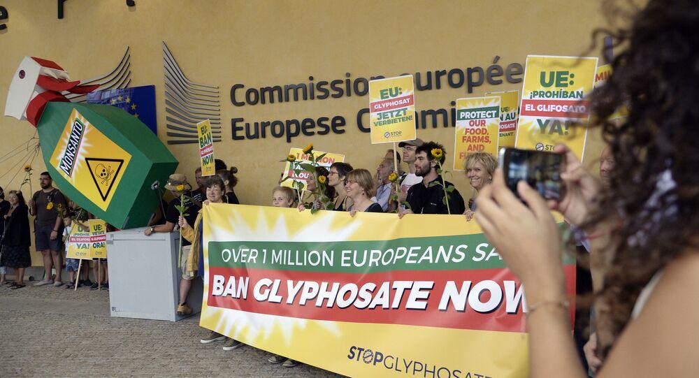 Protestation contre l'utilisation du glyphosate