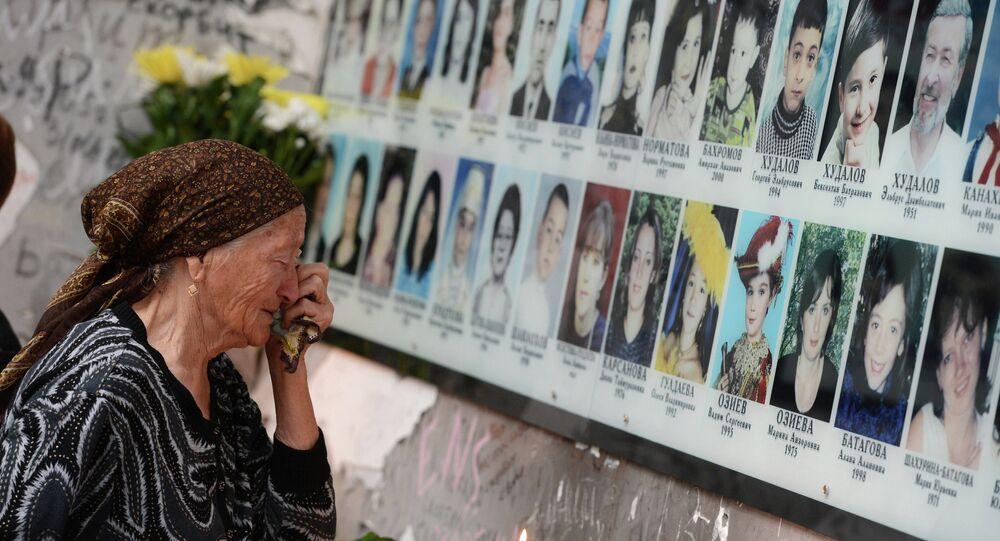 Mémorial dédié aux victimes de l'attentat de Beslan