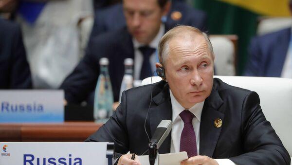 Президент РФ В. Путин принял участие во встрече лидеров БРИКС - Sputnik France