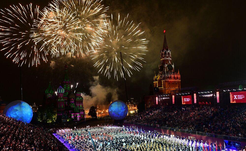 Cérémonie de clôture du festival Tour Spasskaïa à Moscou