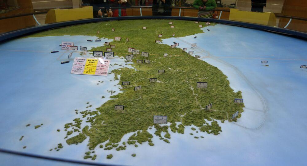Carte de la peninsule coréenne
