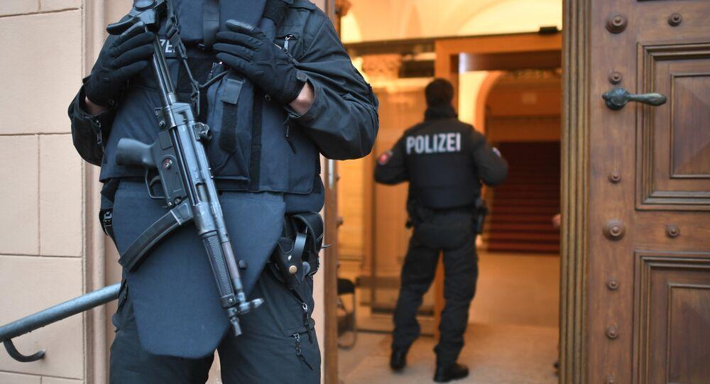 Police en Allemagne. Image d'illustration