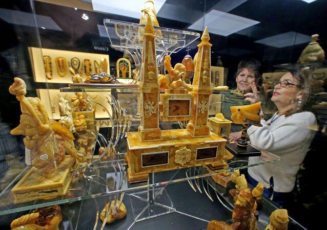 L'ouverture de la Chambre d'ambre interactive près de Kaliningrad