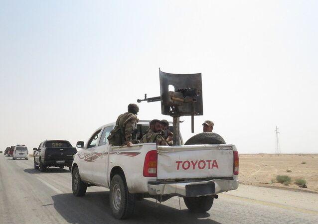 Les militaires syriens à Deir ez-Zor. Image d'illustration