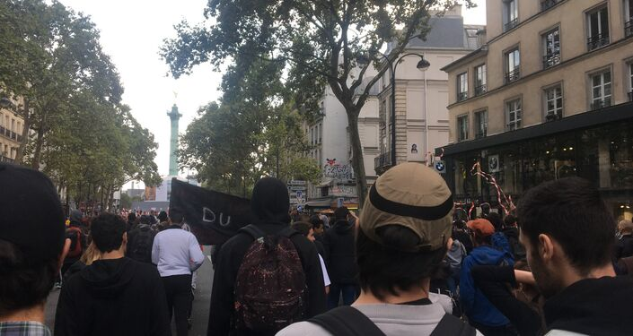 Les manifestations contre la réforme du Code du travail à Paris