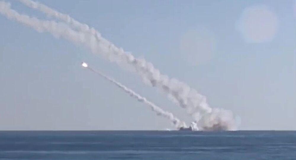 Tir de missile Kalibr