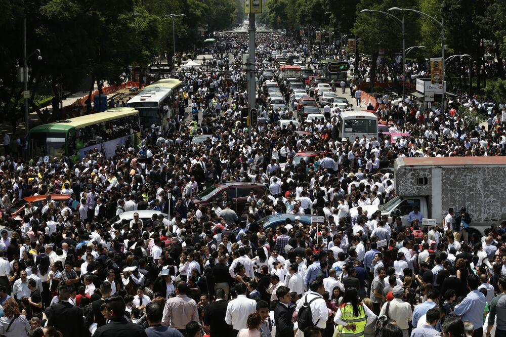 Le violent séisme au Mexique