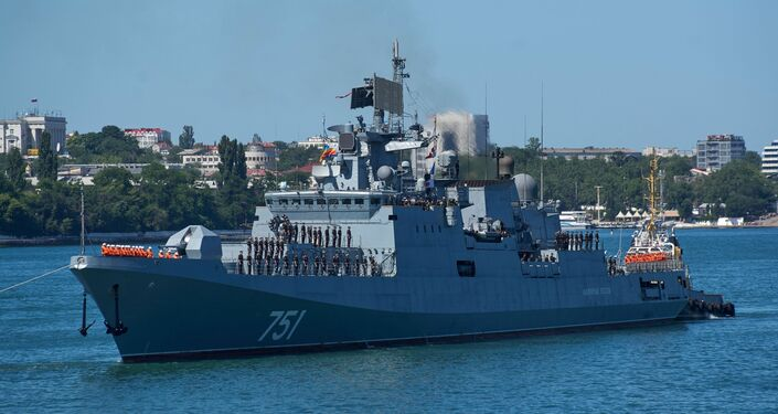 La frégate russe Amiral Essen