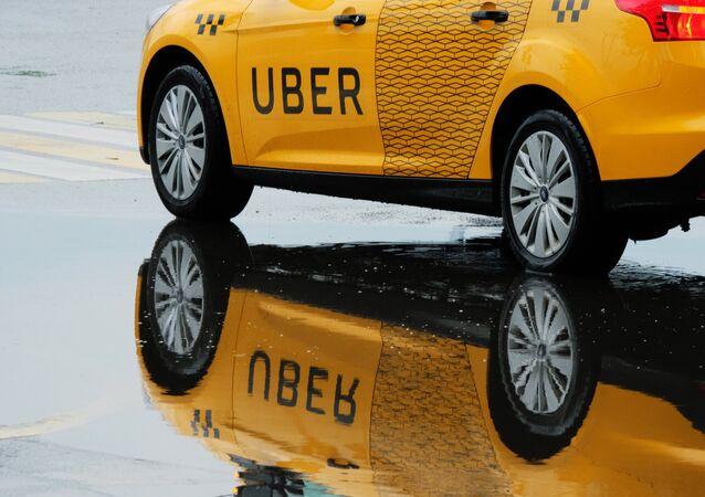 Un taxi de Uber