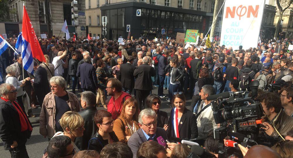 Manifestation contre le coup d'Etat social de Macron à Paris (23 septembre 2017)