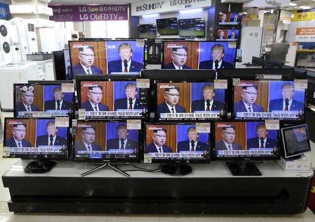 Kim Jong-un et Donald Trump à la télé