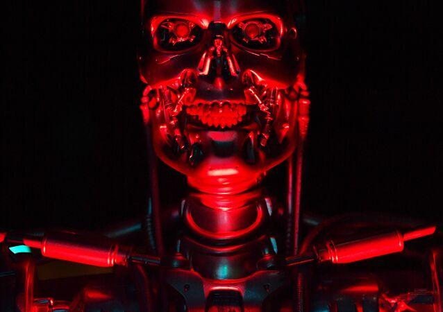 Un robot nommé 'T-800 Endoskeleton robot' utilisé pendant le tournage de Terminator