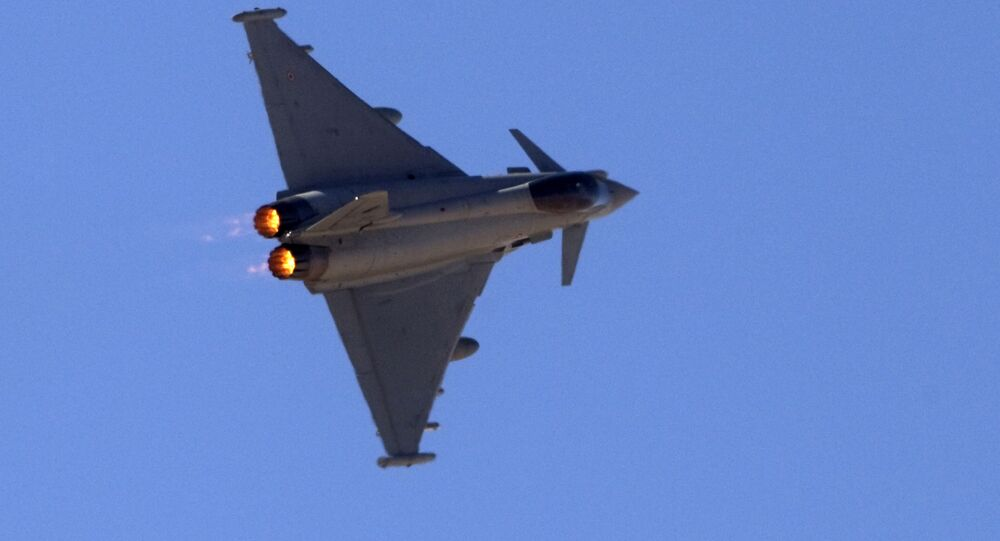 Un Eurofighter Typhoon. Archive photo