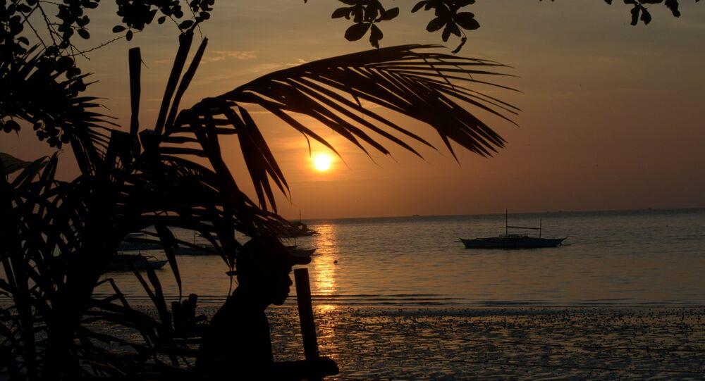 Philippines, plage. Image d'illustration
