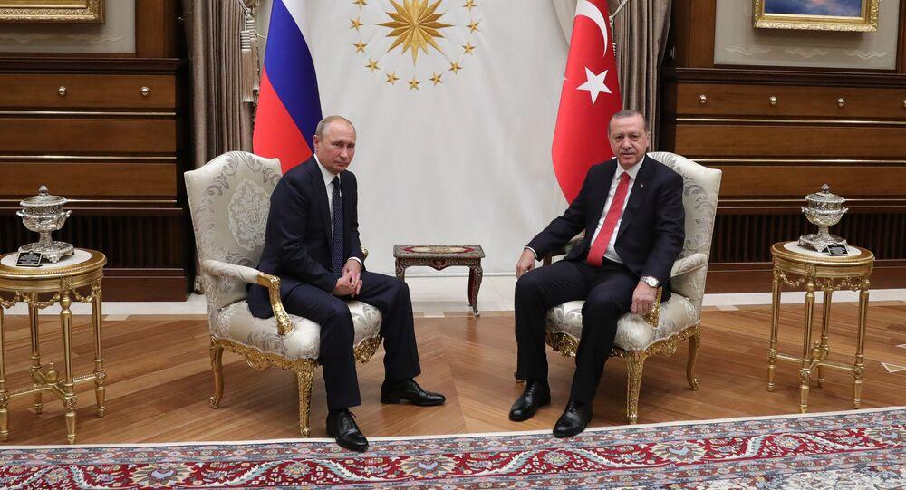 Vladimir Poutine er Recep Tayyip Erdogan