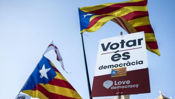 Une action de protestation à Barcelone - Sputnik France