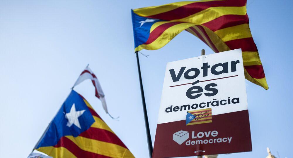 Une action de protestation à Barcelone