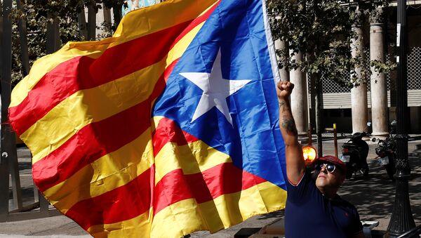Un partisan de l'indépendance de la Catalogne - Sputnik France