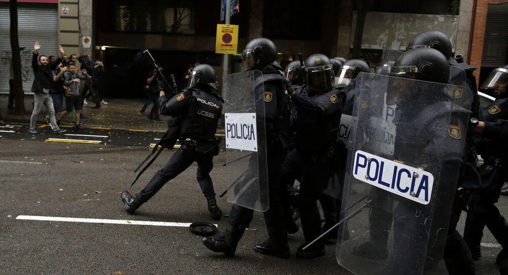 Police espagnole en Catalogne