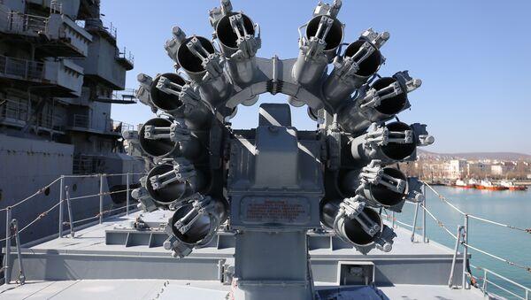 Les missiles Kalibr à bord de la frégate Admiral Grigorovitch - Sputnik France