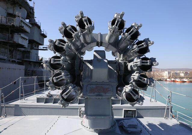 Les missiles Kalibr à bord de la frégate Admiral Grigorovitch