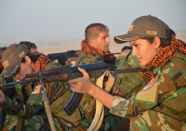 Femmes Peshmergas à Kirkuk