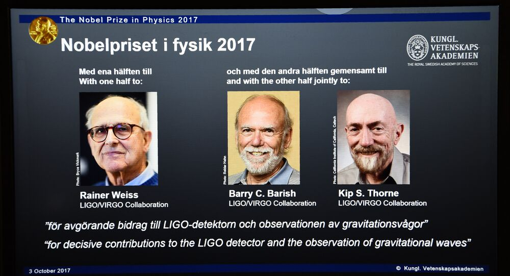 Kip Thorne, Rainer Weiss et Barry Barish