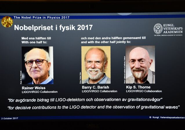 Kip Thorne, Rainer Weiss et Barry Barish