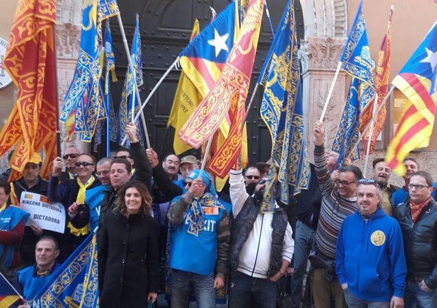 Une manifestation à Vérone