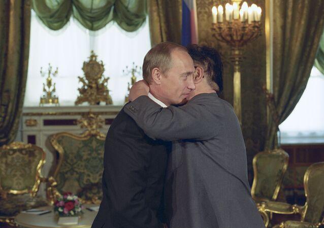 Kim Jong Il et Vladimir Poutine