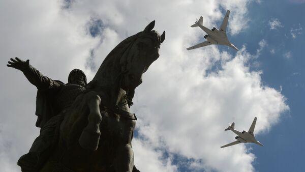 Репетиция воздушной части военного парада в Москве в ознаменование 70-летия Победы в Великой Отечественной войне 1941-1945 годов - Sputnik France