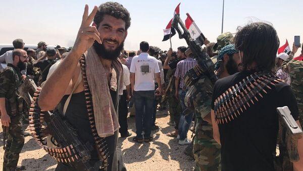 Syrische Soldaten in der östlichen Provinz Deir ez-Zor - Sputnik France