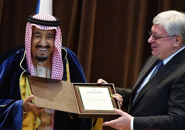 Le roi saoudien Salmane bel Abdelaziz Al Saoud nommé docteur honoris causa par MGIMO