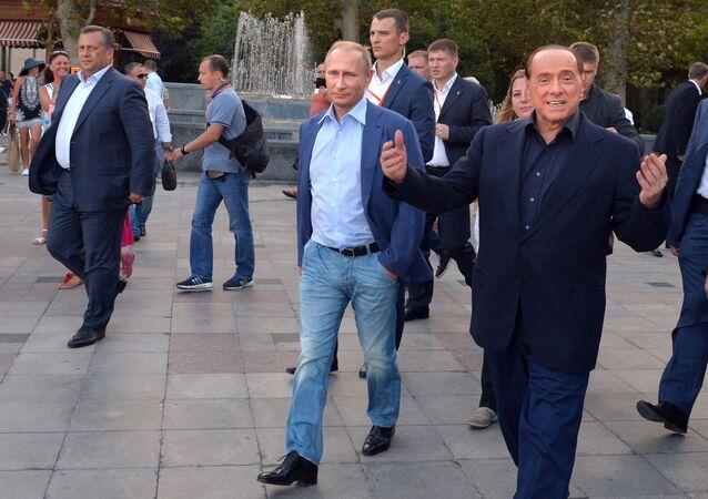 Vladimir Poutine et Silvio Berlusconi