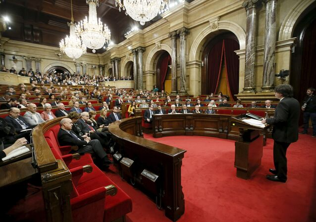 Parlement catalan à Barcelone