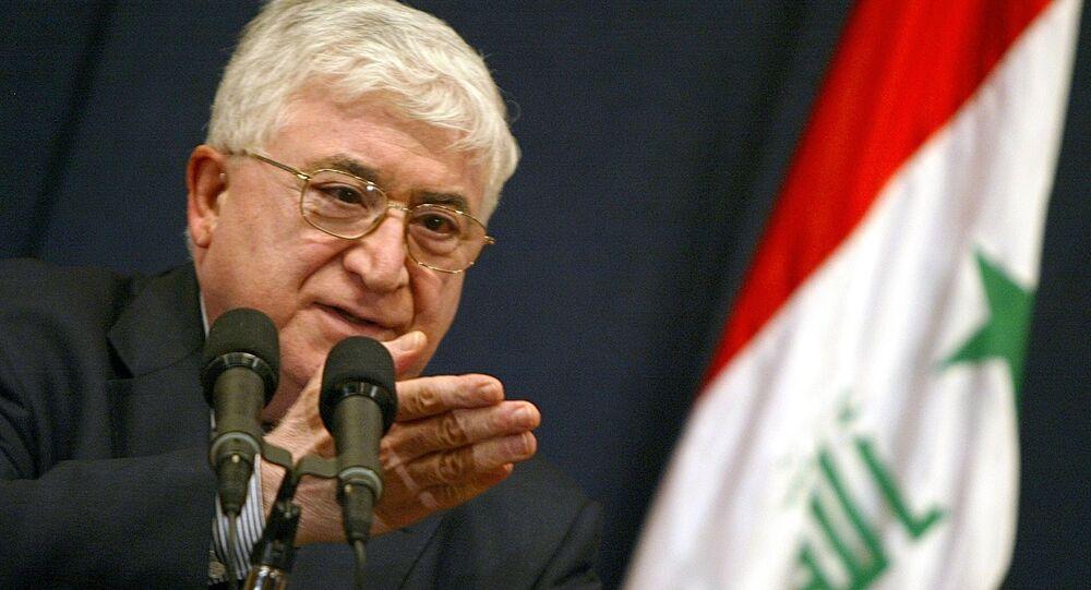 Le Président irakien Fouad Massoum. Archive photo