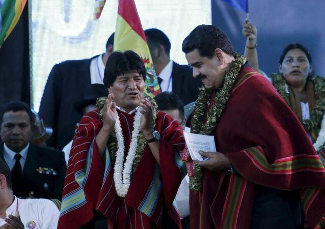 Evo Morales et Nicolas Maduro