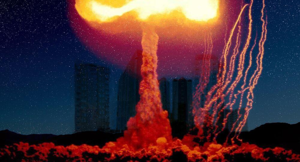 Explosion d'une bombe nucléaire, image d'illustration