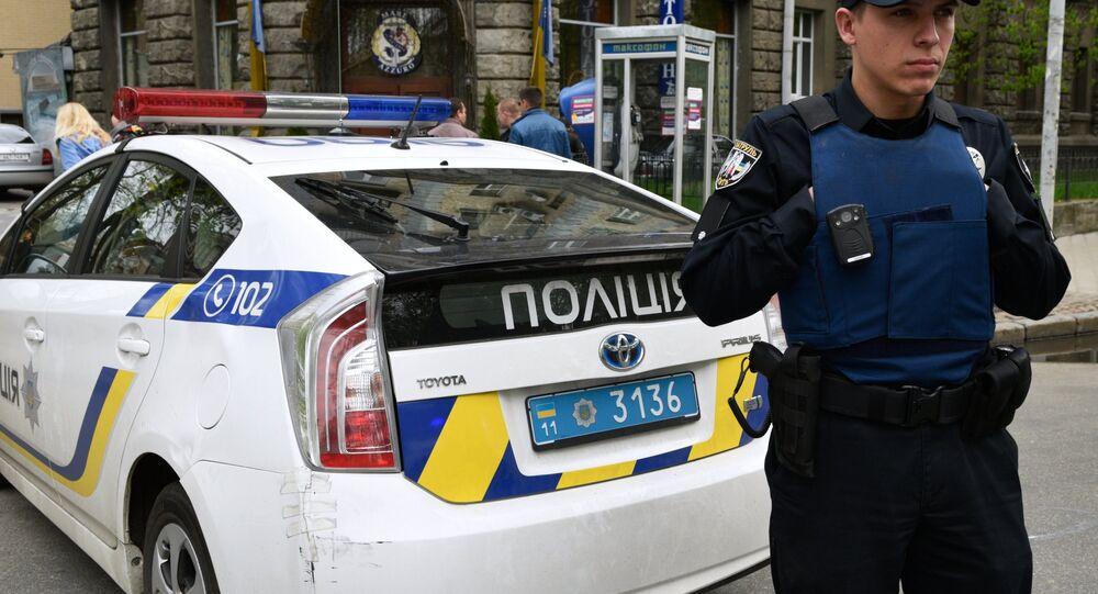 Un officier de police ukrainien, image d'illustration