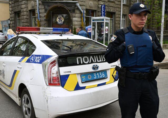 Un officier de police ukrainien