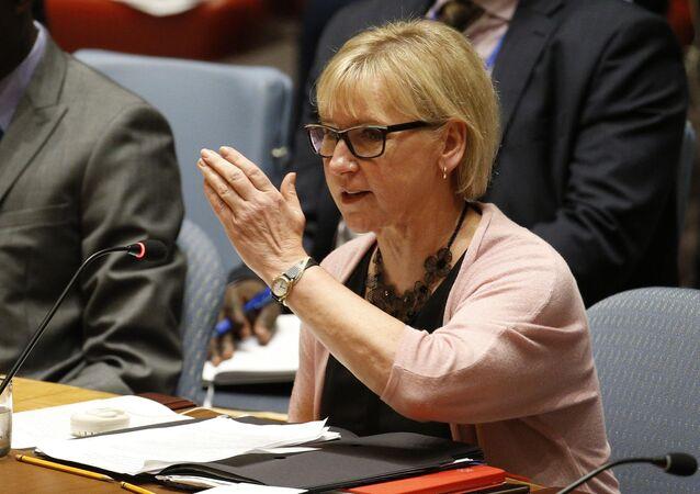 La ministre suédoise des Affaires étrangères Margot Wallstrom