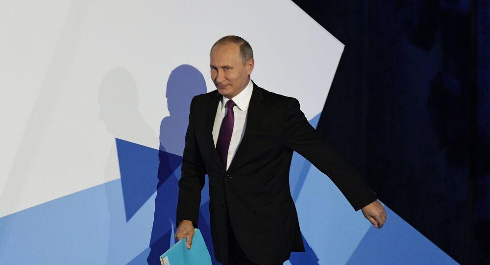 Vladimir Poutine au Club de Discussion Valdaï