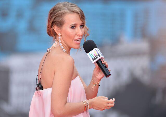 La présentatrice russe Ksénia Sobtchak