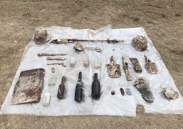 Objets retrouvés grâce aux fouilles archéologiques