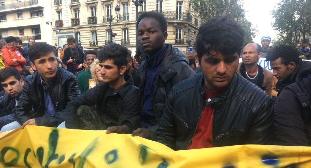 Manifestation des migrants à Paris