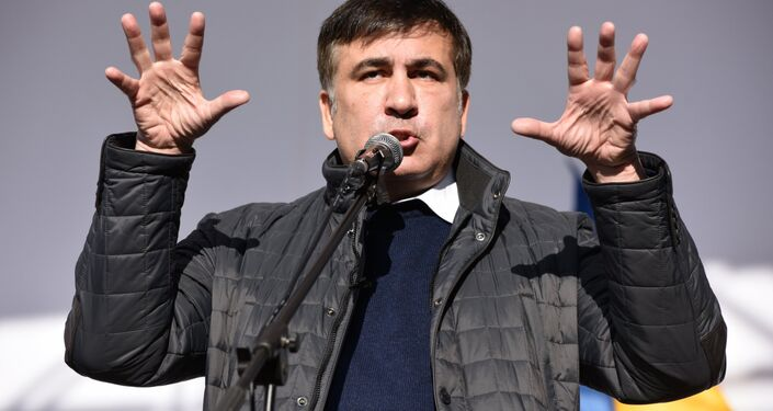 Mikheil Saakashvili, Rada à Kiev